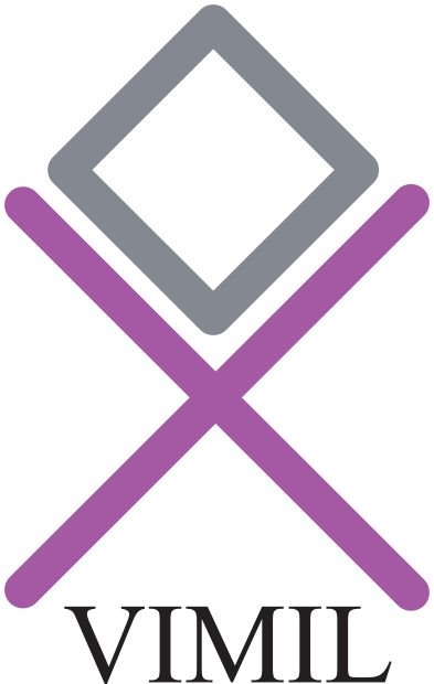 A transparent vimil logo in CMYK format